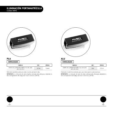 Color Negro Puig 5565N Grupo Iluminaci/ón Aluminio Portamatriculas