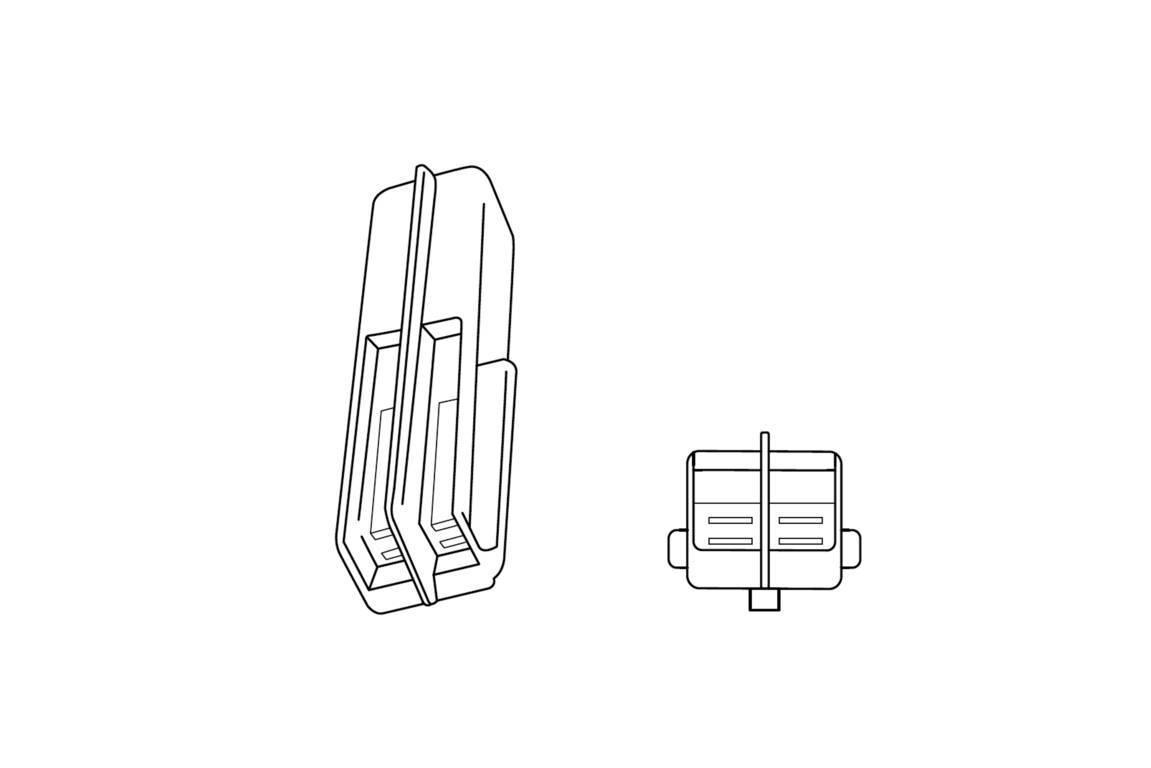 Juego de 2 PUIG 4871/N LED Intermitente Masa Corto Tallo y /ámbar//Humo//Lente de l/áser 60/x 20/mm Base de Carbono